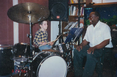 Pete Joyner the famous drummer with Philip Winter